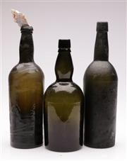 Sale 9073 - Lot 94 - A Set Of three Late 19th Century Bottles, One With Shell Addition (Tallest H: 33cm)