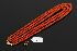 Sale 3719 - Lot 70 - A THREE STRAND GRADUATED NECKLACE OF MEDITERRANEAN CORAL TOGETHER WITH SPARE CLASP;