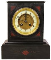 Sale 7978 - Lot 2 - Fattorini & Sons Black Slate Clock
