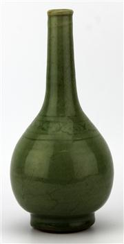 Sale 8079 - Lot 95 - Late Yuan Early Ming Chinese Incised Celadon Vase