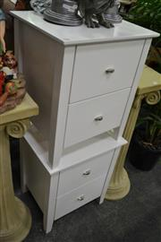 Sale 8117 - Lot 996 - Pair of 2 Drawer Bedside Cabinets