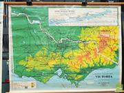 Sale 8451 - Lot 1044 - Chas H Scally Educational Map of Victoria