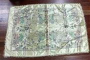 Sale 8461 - Lot 67 - Chinese Embroidered Silk Depicting Village Scene