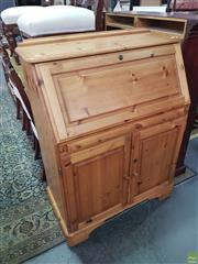 Sale 8593 - Lot 1075 - Timber Bureau with Two Doors and Single Drawer to Front