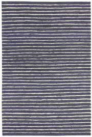 Sale 8651C - Lot 81 - Colorscope Collection; Flatweave Jute and Wool - Navy/White Stripe Rug, Origin: India, Size: 160 x 230cm, RRP: $499