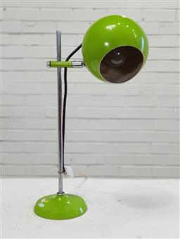 Sale 9151 - Lot 1092 - Green metal ball form table lamp (h:65cm)