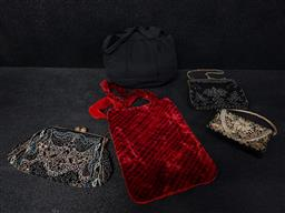 Sale 9254 - Lot 2101 - 5 Evening Purses incl Beaded Examples