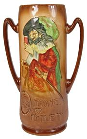 Sale 7978 - Lot 20 - Royal Doulton Heres-A-Health Unto His Majesty Vase by Noke