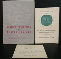 Sale 8176A - Lot 99 - Two Catalogues for Australian Commonwealth Jubilee Celebrations 1951 plus an Invitation Card.