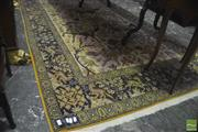 Sale 8335 - Lot 1009 - Persian Pictorial Garden of Paradise Wool Carpet with Riding Huntsmen and Animal Border (235x140)
