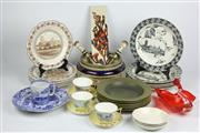 Sale 8384 - Lot 97 - Wedgwood Handpainted Cup Saucers (1 AF) with Other Ceramics incl. Wedgwood Dinner Wares