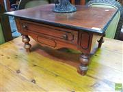 Sale 8447 - Lot 1036 - Pair Small Ceylonese Side Tables w Ebony Mouldings & a Drawer