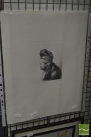 Sale 8525 - Lot 2097 - After Rembrandt - Collection of (5) Etchings 43.5 x 33cm (sheet size)