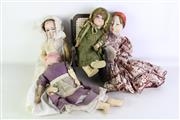 Sale 8931B - Lot 689 - Set OF Four Three Vintage Dolls With Rocking Chair (Some Losses)