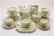 Sale 9032 - Lot 23 - Royal Doulton Iris Pattern Tea Set For 6 Persons (crack and chip to one cup)