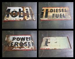 Sale 9151 - Lot 1419 - Collection of 15 x Vintage enamel Mobil signs