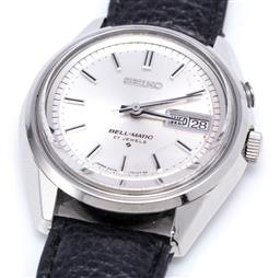Sale 9194 - Lot 537 - VINTAGE SEIKO BELL-MATIC AUTOMATIC WRISTWATCH; ref. 4006-7012 in stainless steel with sunburst dial, applied markers, center seconds...