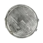 Sale 8253 - Lot 334 - A VINTAGE SILVER COMPACT; Austro Hungarian 800 silver hallmarks.