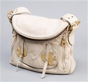 Sale 8541A - Lot 92 - A Marc by Marc Jacobs beige leather shoulder bag with gilt bird fasteners to front, great condition, W 32cm