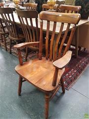 Sale 8593 - Lot 1010 - Set of Eight Slat Back Dining Chairs