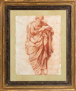 Sale 9130H - Lot 27 - Roman scholar, hand coloured engraving, with Gowrie Gallery label to verso, frame size 70cm x 59cm