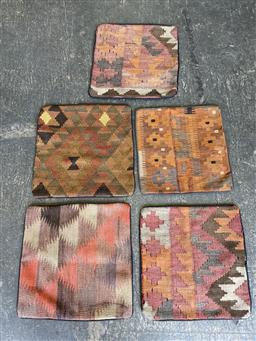 Sale 9151 - Lot 1306 - Hand knotted pure wool Persian kilim cushion covers ( 40 x 40cm)