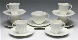 Sale 9173 - Lot 8 - A collection of Shelley ceramics inc five coffee duos and a trio