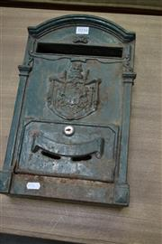 Sale 8087 - Lot 1016 - An Early Cast Iron Post Box With Shield Motif