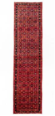 Sale 8800C - Lot 76 - A Persian Hussainabad Hand Knotted Wool Hall Way Runner, 110 x 428cm