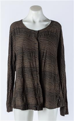 Sale 9003F - Lot 52 - An Osaka in Black and olive Long Sleeve Shirt Size 14