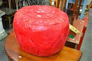 Sale 8115 - Lot 1162 - Egyptian Red Leather Ottoman