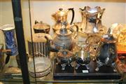 Sale 8269 - Lot 93 - Silver Plated Teapot with Other Plated Wares incl. Tazzas