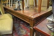 Sale 8323 - Lot 1094 - Parquetry Top Dining Table