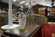 Sale 8465 - Lot 1032 - Glass Table Lamps x 2