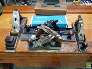Sale 8493 - Lot 1030 - Collection of Wood Working Planes inc Stanley and Record (6)