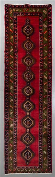 Sale 8545C - Lot 36 - Persian Shiraz Runner 394cm x 110cm