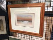 Sale 8811 - Lot 2018 - Rex Newell - Outback Scene with Cottage oil on canvas board, 13 x 22cm, signed lower left