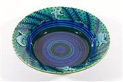 Sale 9015 - Lot 59 - A Large Glazed Pottery Bowl Decorated with Sea Life, Signed to Base Lincoln Kirby Bell 2001 (Dia 32cm)