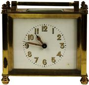 Sale 8065 - Lot 40 - French Brass Britannic Squat Carriage Clock
