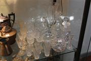 Sale 8379 - Lot 167 - Finely Cut Crystal Flower Vase with Other Crystal incl. Drink Wares