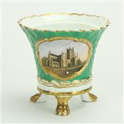 Sale 8393B - Lot 37 - Royal Worcester Green Vase