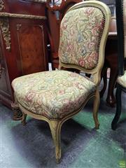 Sale 8611 - Lot 1082 - Pair of Floral Upholstered Bedroom Chairs