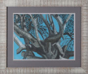 Sale 8677B - Lot 667 - Artist Unknown, figtree study, pastel on paper, 44 x 58cm
