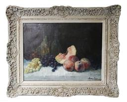 Sale 9135H - Lot 163 - Henry Dubois French 19th Century Still life oil on canvas signed 51 x 71 cm -
