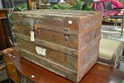 Sale 7987A - Lot 1211 - Vintage Shipping Trunk
