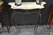 Sale 8262 - Lot 1007 - Marble Top Consol Table