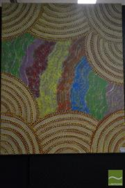 Sale 8495 - Lot 2080 - Rosie Bird Nangala - Untitled 88 x 71cm (stretched & ready to hang)