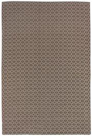 Sale 8651C - Lot 87 - Colorscope Collection; Flatweave Woven Leather/Wool - Choc/Diamonds Rug, Origin: India Size: 160 x 230cm RRP: $899