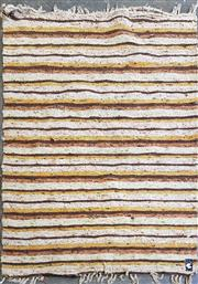 Sale 8740 - Lot 1584 - Retro Woollen Rug in Tan Tones (205 x 138cm)