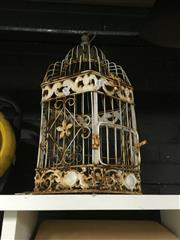 Sale 8759 - Lot 2137 - 2 Boxes of Sundries incl Baskets, Birdcage etc